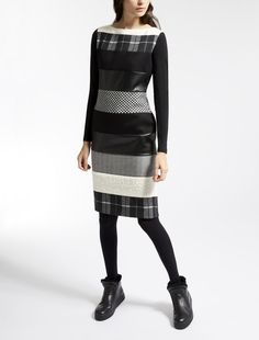 Max Mara AVIO black: Wool jersey dress.
