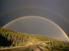 Alaska Highway Rainbow Photograph by Raymond Gehman - National Geographic Where The Rainbow Ends, Over The Rainbow, National Geographic, Beautiful World, Beautiful Places, Alaska Highway, Rainbow Photography, Rainbow Sky, Rainbow Magic