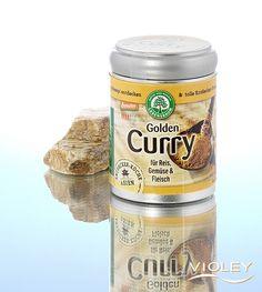 Lebensbaum Golden Curry 50 g - Naturprodukte Shop Violey Golden Curry, Coconut Oil, Jar, Shopping, Food, Meat, Amazing, Meal, Eten