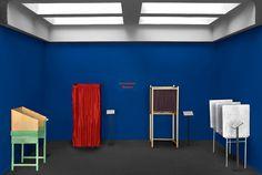 Guillaume Bijl (Antwerpen 1946) ,Stemhokkenmuseum, 2012