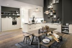 Montana Oak Nordic kitchen with Soft Pearl Grey