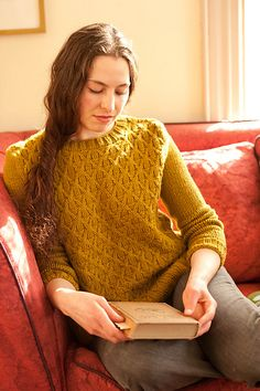 Wickerwork Pullover by Michele Wang (Quince and Co.)