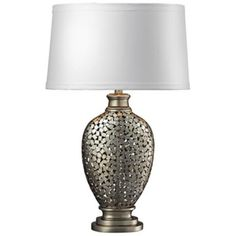 Lockerbie Antique and Silver Table Lamp -