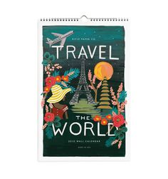 2015 Travel the World Wall Calendar - Use the beautiful pages as wall hangings