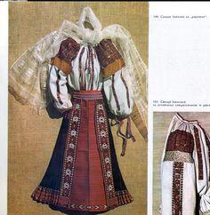 Vlasca, Muntenia (Wallachia) Folk Costume, Costumes, Old Houses, Embroidery Designs, Diy And Crafts, Textiles, Princess Zelda, Moldova, Traditional
