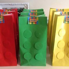 6x Lego Birthday Party Loot Favour Paper Gift by mycupofteaparties