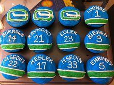 hockey cupcakes