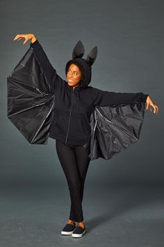 Bat Costumecountryliving Costume Halloween, Homemade Halloween Costumes, Halloween Bats, Diy Costumes, Costume Ideas, Halloween Couples, Halloween Makeup, Group Costumes, Zombie Costumes