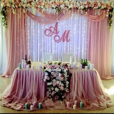Put gold instead of silver in back ground « Mutter ADS Wedding Draping, Wedding Reception Backdrop, Wedding Table, Wedding Hall Decorations, Backdrop Decorations, Wedding Centerpieces, Bride Groom Table, Dusty Rose Wedding, Wedding Background