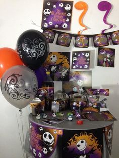 the nightmare before christmas happy birthday party pack supplies free shipping birthdayadultandchild