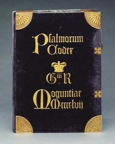 ▪︎The Mainz Psalter. Date: 1457 Artists: Johann Fust and Peter Schoeffer Medium: Printed on vellum in black and red, with woodblock two-colour initials, manuscript music and large coloured capitals in blue and red; Rum, Praying The Psalms, Gutenberg Bible, Bookbinding Supplies, What Book, Purple Velvet, Book Binding, Good Books, Initials