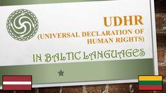 Déclaration Universelle des Droits de l'Homme en langues baltes / Universal Declaration of Human Rights in Baltic Languages