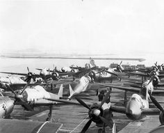 Captured Japanese ac 003   This group of photos depict a large number of captured Japanese warplanes that were transported to the U.S. for evaluation just after the war. Some of the photos are of the aircraft being prepared for shipments at Yokosuka, Japan in late October and early November, 1945. Others depict the planes on board USS Barnes (CVE-20) during its transit to Norfolk via Alameda and the Panama Canal.