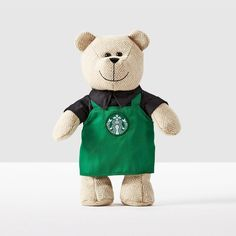 Bearista® Bear with Green Apron. Get in the spirit of tradition with this modern Bearista Bear.