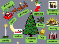 Christmas vocabulary (with audio).... and free online games