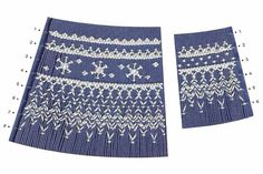 Smocking plate with a geometric design with snow. rows of smocking on a bishop. Smocking Plates, Smocking Patterns, Baby Patterns, Sewing Baskets, Heirloom Sewing, Smock Dress, Pattern Books, Embroidery Stitches, Hand Embroidery