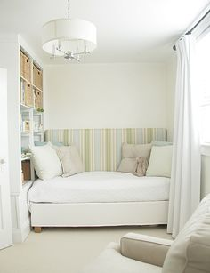 great Little nook with wall built in shelves