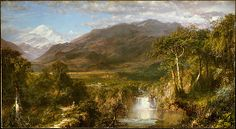 """Frederic Edwin Church, """"Heart of the Andes,"""" 1859.  Oil on canvas."""