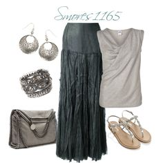 """Lace Maxi Skirt"" by smores1165 on Polyvore"