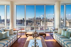 IT'S ALL ABOUT THE VIEWS.  NoHo, New York, Represented exclusively by Richard Orenstein. See more eye candy on this home at http://www.halstead.com/sale/ny/manhattan/noho/its-all-about-the-views/condop/3860018.