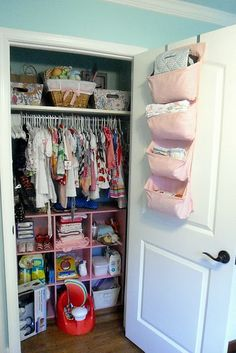 This is about the size of our closet we're using for baby, small but we have to make it work! This gives me hope of organization!