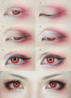 is the best eye makeup makeup eyeshadow to eye makeup kajal eye makeup makeup like a pro makeup style eye with makeup tutorial often should eye makeup be replaced Anime Eye Makeup, Anime Cosplay Makeup, Goth Makeup, Costume Makeup, Makeup Art, Makeup Eyeshadow, Makeup Tips, Rave Makeup, Fairy Makeup