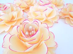 Large Handmade Paper Flowers by EverBeautifullyYours