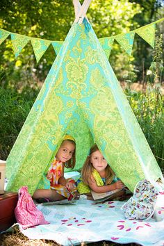 Child Toddler Kid's Play Teepee/Tent by LittleBirdsBoutique. Summer is rolling round and this might just end up in my yard!