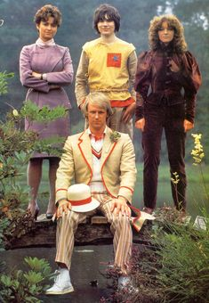 1981 BBC promotional photo of the cast of Doctor Who featuring the fifth Doctor Peter Davison and my personal favorite companion (and no one else's it seems) Adric, as portrayed by Matthew Waterhouse, United Kingdom, 1982, photograph by BBC Media Centre/Television Publicity (photographer unattributed).