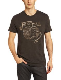 Amazon.com: Lucky Brand Mens Mens Johnny Cash Guitar Graphic Tee, Black Mountain, Large: Clothing
