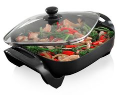 The Odiseo Electric Frying Pan gives you quick and easy meals every time. This multi-purpose electric frying pan has a non-stick coating making it easy to clean Cooking Equipment, Cooking Tools, Best Electric Skillet, Electric Frying Pan, Glass Cooktop, New Fruit, Vegetarian Chili, Different Recipes