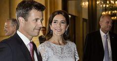 Crown Prince Frederik, Crown Princess Mary, Prince Jaochim, Princess Marie attend a gala performance at Royal Theatre