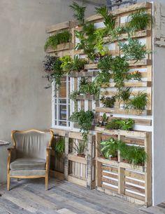 Lav en plantevæg med grønne planter