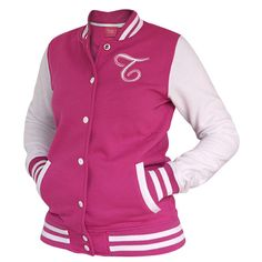 tolle Tussi on Tour Collegejacke #Jacke #Collegejacke #pink