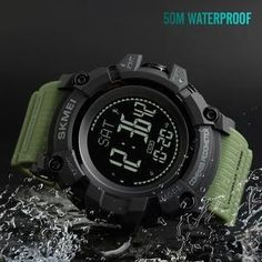 Trustful Mens Brand-name Mens Solar Alarm Digital Led 50m Watch Waterproof Mens Watch Dive Watch Military Analog Intelligence Children's Watches