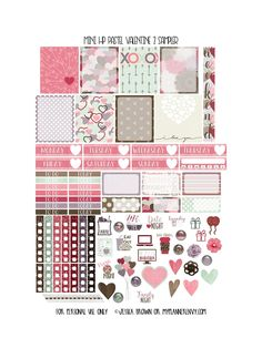 Free Printable Pastel Valentine 2 Sampler for the Mini Happy Planner from myplannerenvy.com