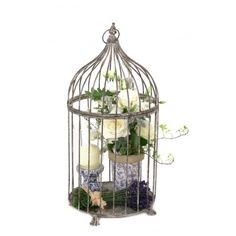 bird cage flowers by Your London Florist