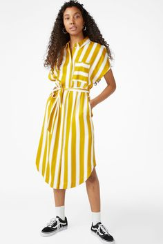 Shirt dress - Striped to perfection - Dresses - Monki SE