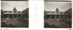 Construcción de la Estación Retiro del Ferrocarril Central Argentino (F.C.C.A.) Ca. 1914.  Colección Hume Hermanos