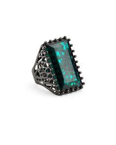 Emerald Green Ring.