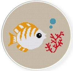 Instant download,free shipping,Cross stitch pattern, Cross-StitchPDF, tropical fish and red coral,zxxc0346