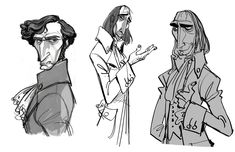 Early villain concepts for Tangled