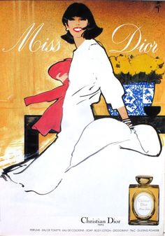 Miss Dior, Christian Dior (1970) by René Gruau