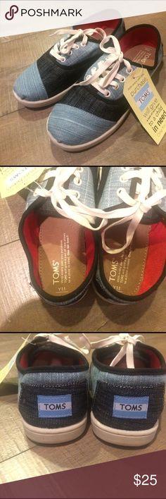 TOMS Cordones Mixed Denim Youth Sz 5.5 BNWT Toms Cordones - Youth Size 5.5 Mixed Denim TOMS Shoes Sneakers