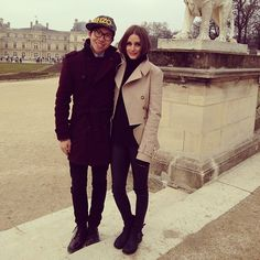 Olivia Palermo at a photoshoot on Jardin du Luxemboorg in Paris with Justin Wu.