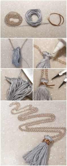 The Craft Caboodle: Tassel Thread Necklace