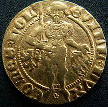 """Geschiedenis van de Nederlandse gulden - Wikipedia De geschiedenis van de Nederlandse gulden gaat terug tot 1252. De eerste gulden (betekent """"gouden"""") werd florijn genoemd, naar de Florentijnse lelie uit het wapen van de stad Florence, waar in 1252 de eerste belangrijke gouden munt (Gouden florijn) sinds de Karolingische tijd werd geslagen. Daarmee is ook de herkomst verklaard van het altijd gebruikte ƒ-teken voor de gulden, en de aanduiding fl."""