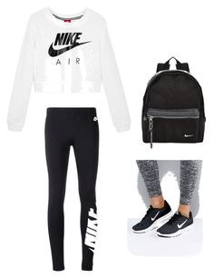 """Nikes"" by kaylanigirl755 on Polyvore featuring NIKE"