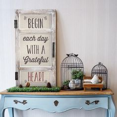 Home Remodel Doors 'Begin Each Day With A Grateful Heart' Metal And Wood Wall Decor Beige - Concepts.Home Remodel Doors 'Begin Each Day With A Grateful Heart' Metal And Wood Wall Decor Beige - Concepts Window Wall Decor, Wood Wall Decor, Art Decor, Decor Ideas, Decorating Ideas, Door Wall, Summer Decorating, Decor Crafts, Gift Ideas