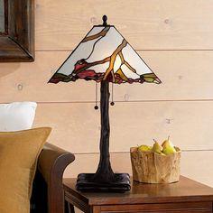 Robert Louis Tiffany Cherry Blossom Art Glass Table Lamp - #3D555 | Lamps Plus